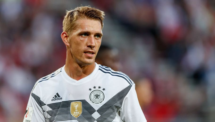 KLAGENFURT, AUSTRIA - JUNE 02: Nils Petersen of Germany look on during the international friendly match between Austria and Germany at Woerthersee Stadion on June 2, 2018 in Klagenfurt, Austria. (Photo by TF-Images/Getty Images)