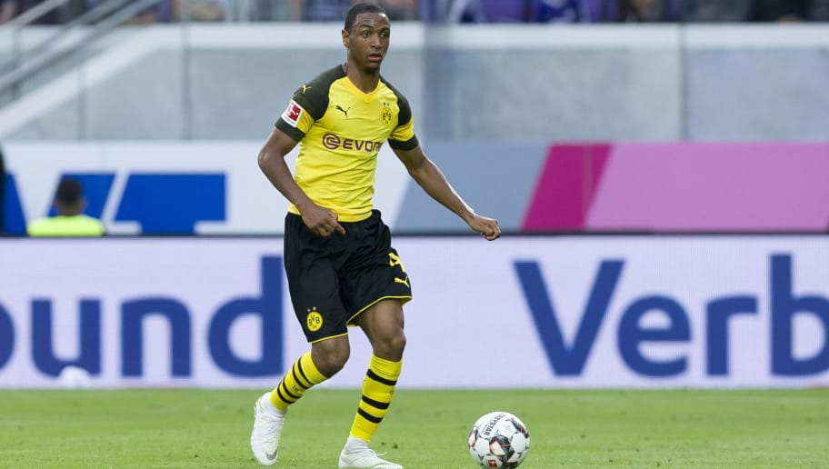 VIENNA, AUSTRIA - JULY 13: Abdou Diallo of Borussia Dortmund controls the ball during the friendly match between Austria Wien and Borussia Dortmund at Generali Arena on July 13, 2018 in Vienna, Austria. (Photo by TF-Images/Getty Images)