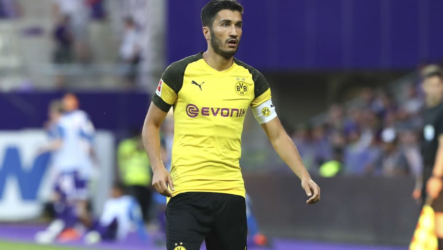 VIENNA, AUSTRIA - JULY 13: Nuri Sahin of Dortmund during the friendly match between Austria Wien and Borussia Dortmund at Generali Arena on July 13, 2018 in Vienna, Austria. (Photo by TF-Images/Getty Images)