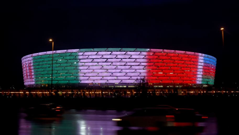 BAKU, AZERBAIJAN - OCTOBER 10:  General view prior to the UEFA Euro 2016 qualifying football match between Azerbaijan and Italy at Olympic Stadium on October 10, 2015 in Baku, Azerbaijan.  (Photo by Claudio Villa/Getty Images)