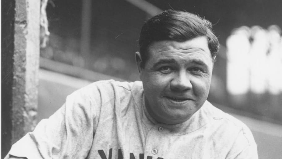 CLEVELAND, OH - MAY 19, 1927: Babe Ruth portrait, visitors dugout League Park. The game between the Indians and Yankees was eventually rained out and rescheduled for a later date. (Photo by Louis Van Oeyen/Western Reserve Historical Society/Getty Images).
