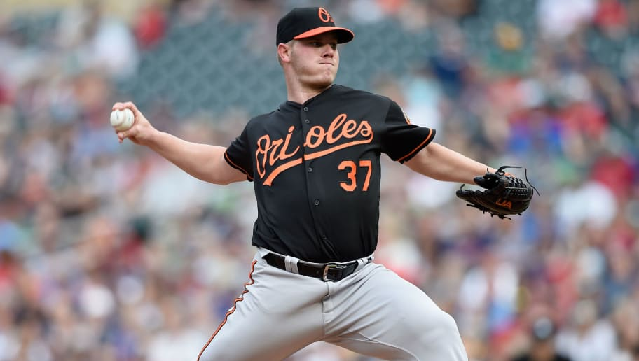 MINNEAPOLIS, MN - JULY 6: Dylan Bundy #37 of the Baltimore Orioles delivers a pitch against the Minnesota Twins during the first inning of the game on July 6, 2018 at Target Field in Minneapolis, Minnesota. (Photo by Hannah Foslien/Getty Images)