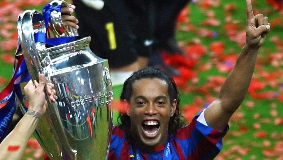 Barcelona's Brazilian forward Ronaldinho