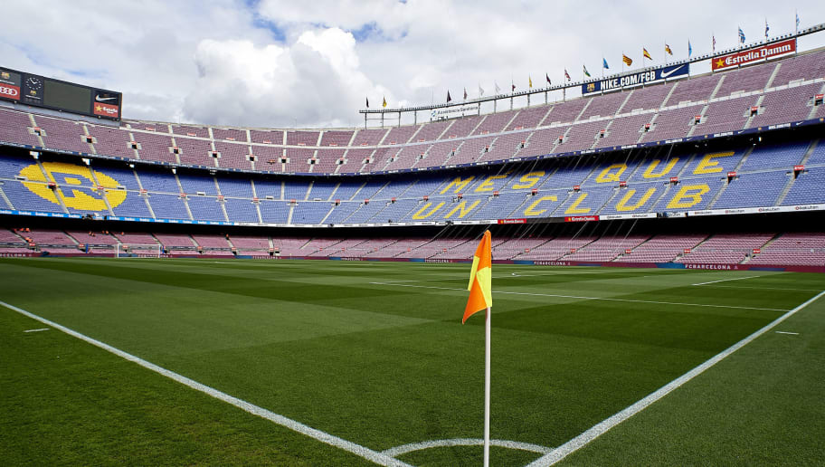 BARCELONA, SPAIN - MARCH 04:  A general view inside the Camp Nou Stadium is seen prior to the La Liga match between FC Barcelona and Atletico de Madrid at Camp Nou on March 4, 2018 in Barcelona, Spain.  (Photo by Quality Sport Images/Getty Images)