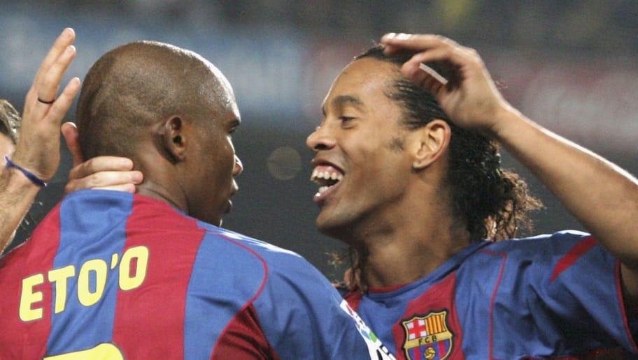 Ronaldinho,Samuel Eto'o,Giovanni Van Bronckhorst