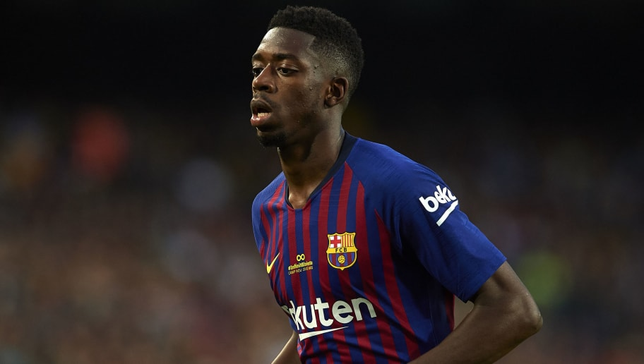 BARCELONA, SPAIN - MAY 20: Ousmane Dembele of Barcelona looks on during the La Liga match between Barcelona and Real Sociedad at Camp Nou on May 20, 2018 in Barcelona, Spain.  (Photo by Quality Sport Images/Getty Images)