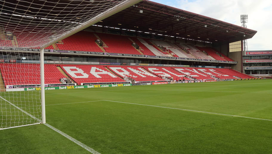 BARNSLEY, ENGLAND - JULY 24: A General view of Oakwell home stadium of Barnsley during the Pre-Season Friendly match between Barnsley and West Bromwich Albion at Oakwell Stadium on July 24, 2018 in Barnsley, England. (Photo by James Williamson - AMA/Getty Images)
