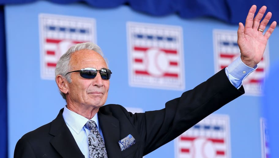 COOPERSTOWN, NY - JULY 26:  Sandy Koufax attends the Hall of Fame Induction Ceremony at National Baseball Hall of Fame on July 26, 2015 in Cooperstown, New York. Craig Biggio,Pedro Martinez,Randy Johnson and John Smoltz were inducted in this year's class.  (Photo by Elsa/Getty Images)