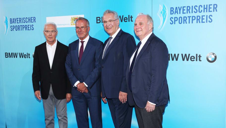Franz Beckenbauer,Karl-Heinz Rummenigge,Joachim Herrmann,Uli Hoeness