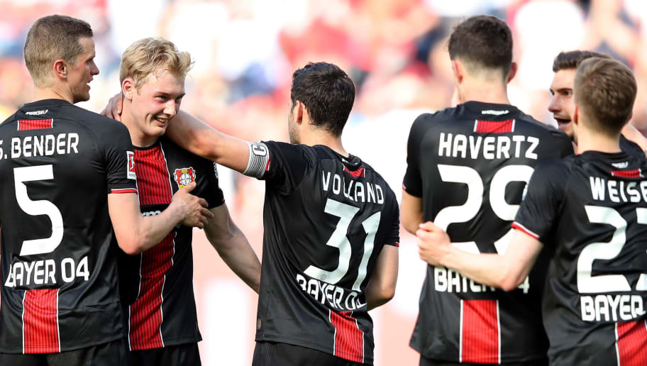 Kevin Volland,Kai Havertz,Sven Bender,Julian Brandt,Mitchell Weiser