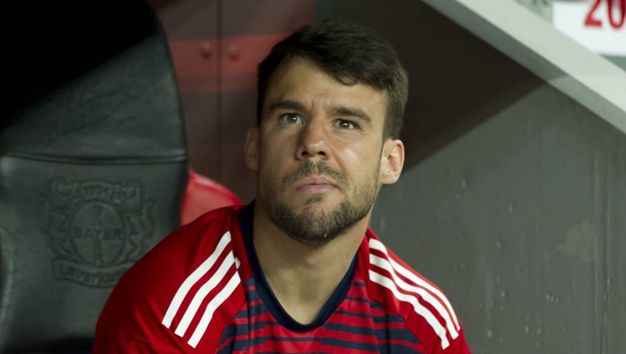 LEVERKUSEN, GERMANY - APRIL 17: Juan Bernat of Bayern Muenchen looks on during the DFB Cup semi final match between Bayer 04 Leverkusen and Bayern Muenchen at BayArena on April 17, 2018 in Leverkusen, Germany. (Photo by TF-Images/TF-Images via Getty Images)