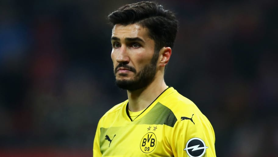 LEVERKUSEN, GERMANY - DECEMBER 02:  Nuri Sahin of Borussia Dortmund looks on during the Bundesliga match between Bayer 04 Leverkusen and Borussia Dortmund at BayArena on December 2, 2017 in Leverkusen, Germany.  (Photo by Dean Mouhtaropoulos/Bongarts/Getty Images)