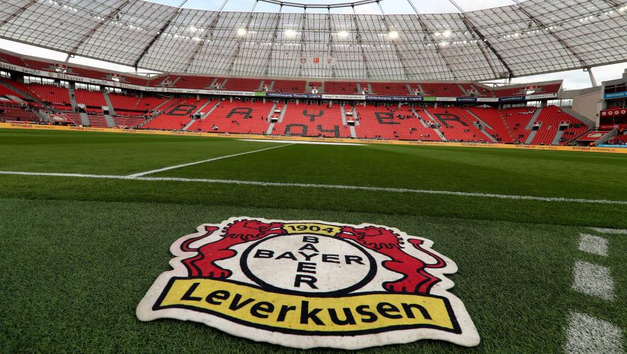 LEVERKUSEN, GERMANY - APRIL 28: General view of the BayArena prior to the Bundesliga match between Bayer 04 Leverkusen and VfB Stuttgart at BayArena on April 28, 2018 in Leverkusen, Germany. The match between Leverkusen and Stuttgart ended 0-1. (Photo by Christof Koepsel/Bongarts/Getty Images)
