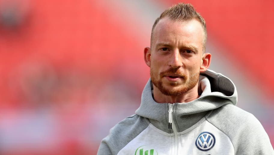 LEVERKUSEN, GERMANY - SEPTEMBER 01: Maximilian Arnold of Wolfsburg looks on prior to the Bundesliga match between Bayer 04 Leverkusen and VfL Wolfsburg at BayArena on September 1, 2018 in Leverkusen, Germany. The match between Leverkusen and Wolfsburg ended 1-3. (Photo by Christof Koepsel/Bongarts/Getty Images)