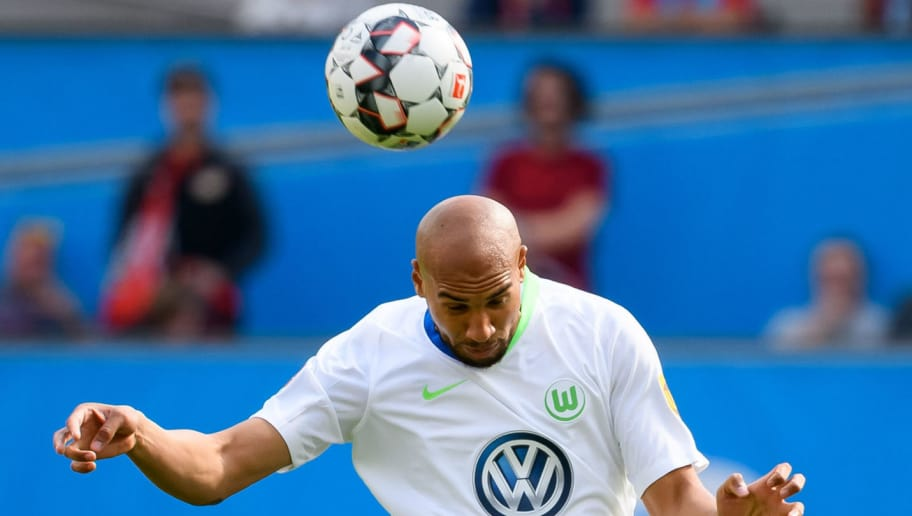 LEVERKUSEN, GERMANY - SEPTEMBER 01: John Anthony Brooks of Wolfsburg  controls the ball  during the Bundesliga match between Bayer 04 Leverkusen and VfL Wolfsburg at BayArena on September 1, 2018 in Leverkusen, Germany. (Photo by TF-Images/Getty Images)