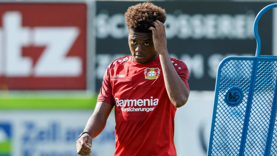 ZELL AM SEE, AUSTRIA - JULY 31: Leon Bailey of Leverkusen looks on during the Bayer Leverkusen training camp on July 31, 2018 in Zell am See, Austria. (Photo by TF-Images/Getty Images)