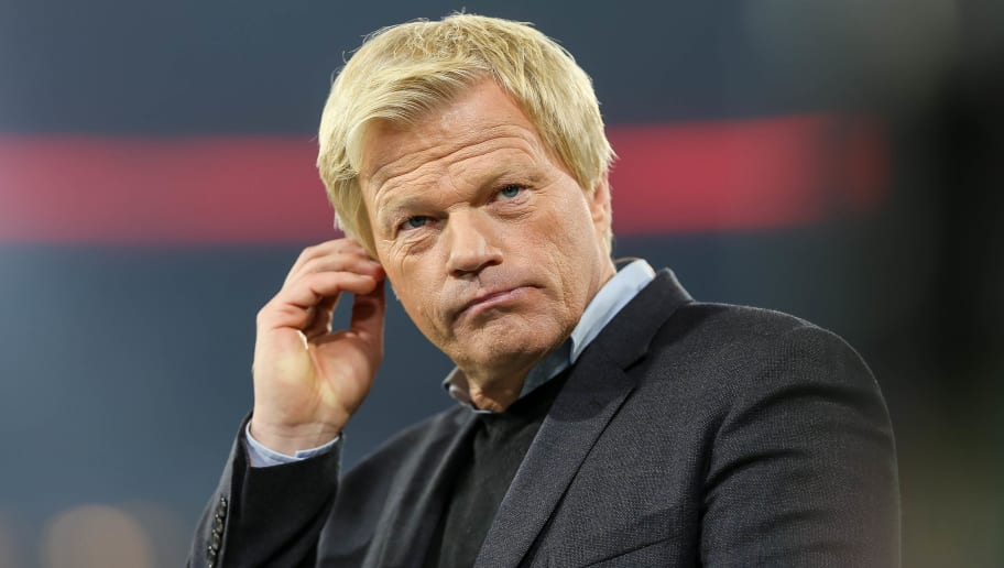 MUNICH, GERMANY - OCTOBER 18: Oliver Kahn looks on during the UEFA Champions League group B match between Bayern Muenchen and Celtic FC at Allianz Arena on October 18, 2017 in Munich, Germany. (Photo by TF-Images/TF-Images via Getty Images)