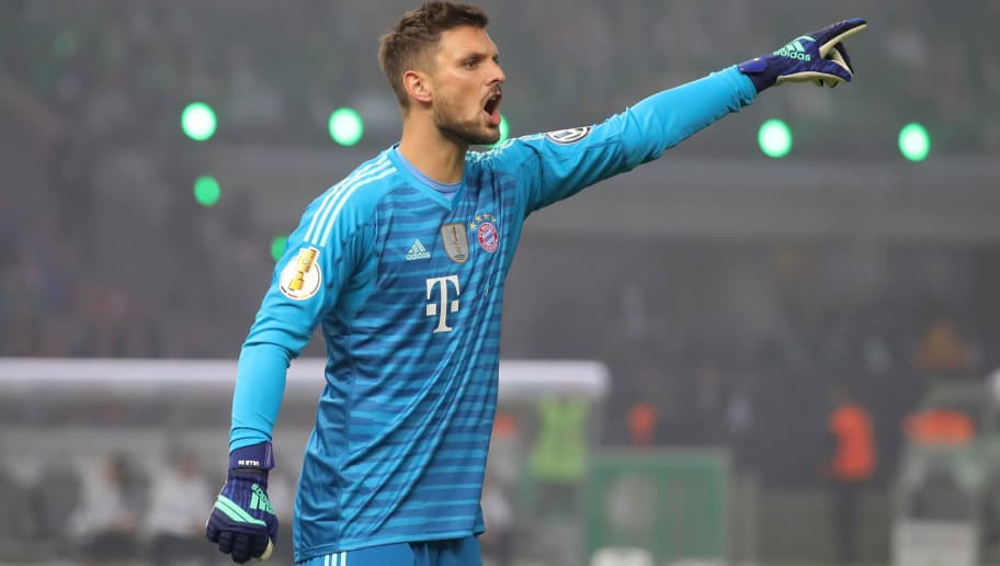 BERLIN, GERMANY - MAY 19:  Sven Ulreich of Bayern Muenchen reacts during the DFB Cup final between Bayern Muenchen and Eintracht Frankfurt at Olympiastadion on May 19, 2018 in Berlin, Germany.  (Photo by Alexander Hassenstein/Bongarts/Getty Images)