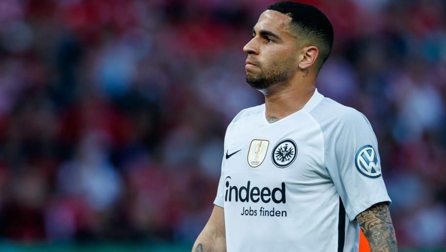 BERLIN, GERMANY - MAY 19: Omar Mascarell Gonzalez of Frankfurt looks on during the DFB Cup final between Bayern Muenchen and Eintracht Frankfurt at Olympiastadion on May 19, 2018 in Berlin, Germany. (Photo by TF-Images/Getty Images)