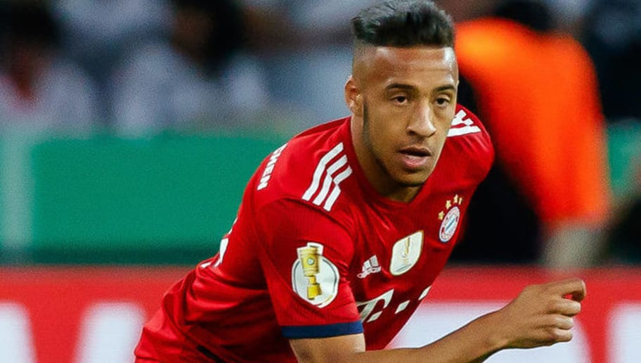 BERLIN, GERMANY - MAY 19: Corentin Tolisso of Muenchen controls the ball during the DFB Cup final between Bayern Muenchen and Eintracht Frankfurt at Olympiastadion on May 19, 2018 in Berlin, Germany. (Photo by TF-Images/Getty Images)