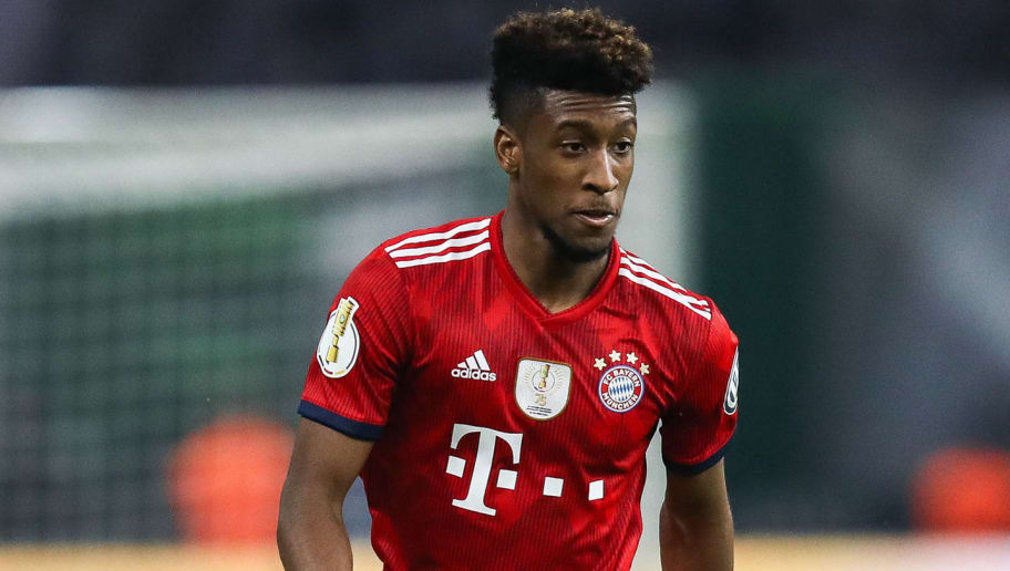 BERLIN, GERMANY - MAY 19: Kingsley Coman #29 of FC Bayern Muenchen controls the ball during the DFB Cup final between Bayern Muenchen and Eintracht Frankfurt at Olympiastadion on May 19, 2018 in Berlin, Germany. (Photo by Maja Hitij/Bongarts/Getty Images)