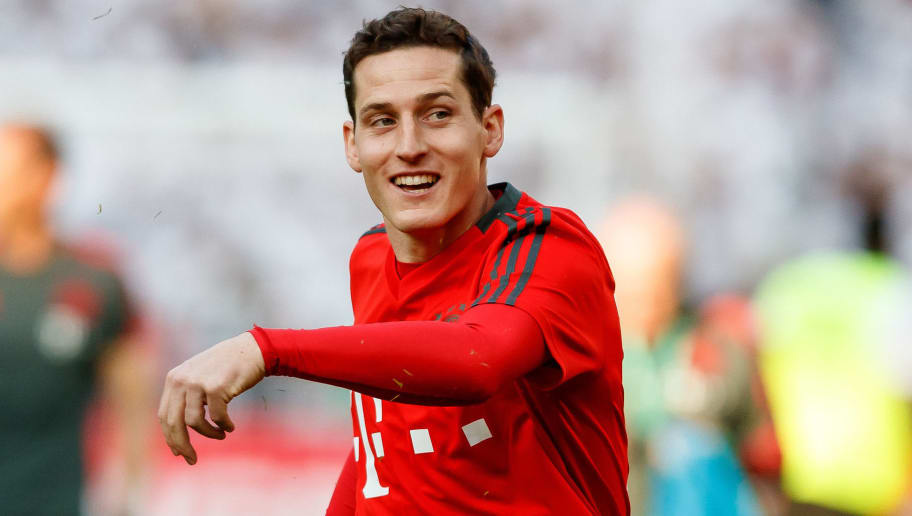 BERLIN, GERMANY - MAY 19: Sebastian Rudy of Muenchen looks on prior to the DFB Cup final between Bayern Muenchen and Eintracht Frankfurt at Olympiastadion on May 19, 2018 in Berlin, Germany. (Photo by TF-Images/Getty Images)