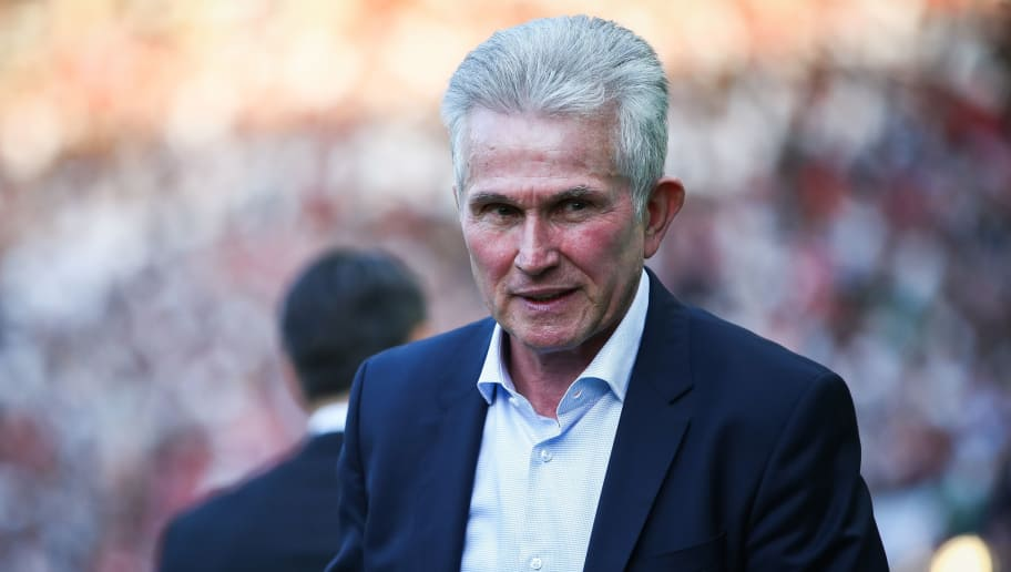 BERLIN, GERMANY - MAY 19: Head Coach Jupp Heynckes of FC Bayern Muenchen looks on prior to the DFB Cup final between Bayern Muenchen and Eintracht Frankfurt at Olympiastadion on May 19, 2018 in Berlin, Germany. (Photo by Maja Hitij/Bongarts/Getty Images)