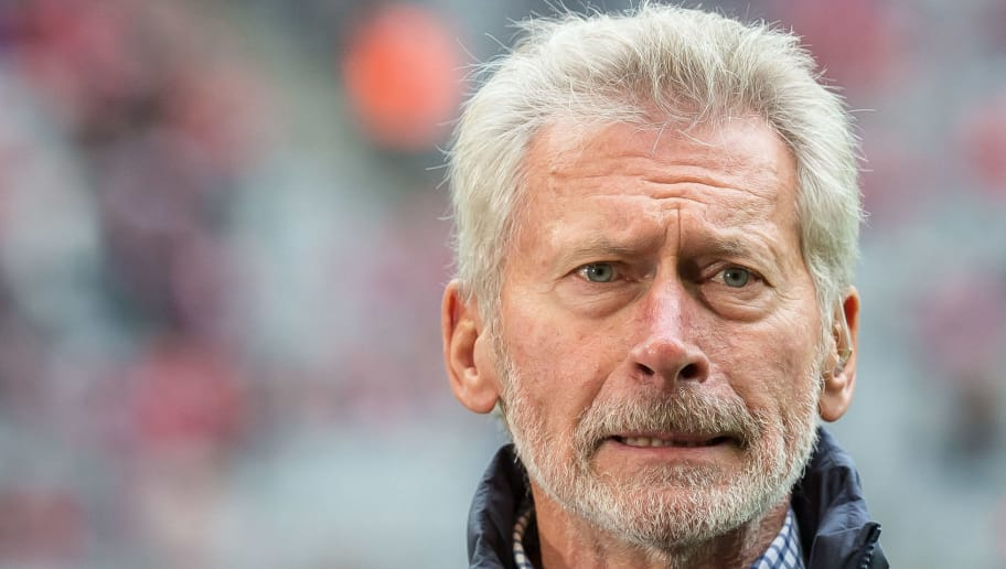 MUNICH, GERMANY - FEBRUARY 04: Paul Breitner looks on during the Bundesliga match between Bayern Muenchen and FC Schalke 04 at Allianz Arena on February 4, 2017 in Munich, Germany. (Photo by TF-Images/Getty Images)