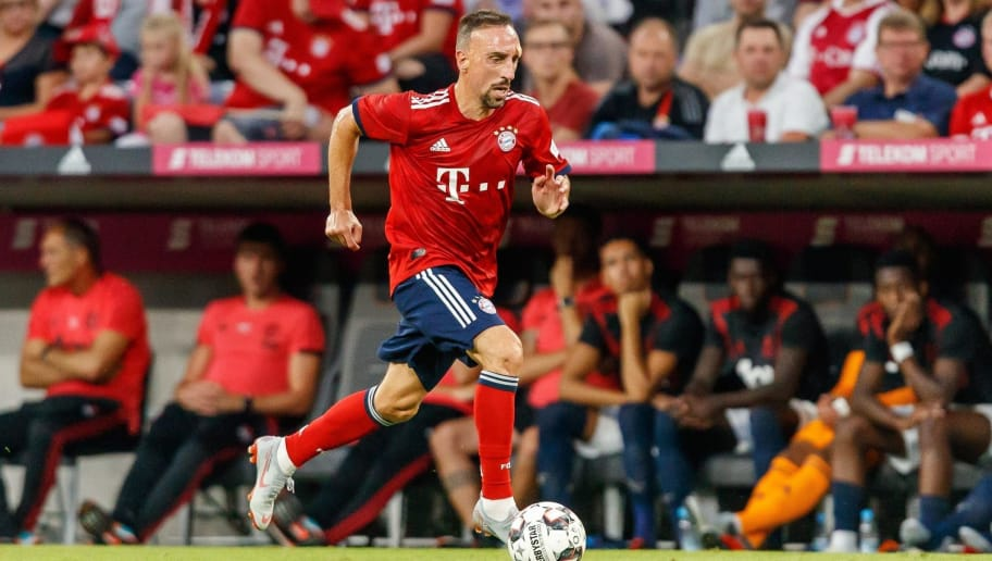 MUNICH, GERMANY - AUGUST 05: Franck Ribery of Bayern Muenchen controls the ball during the friendly match between Bayern Muenchen and Manchester United at Allianz Arena on August 5, 2018 in Munich, Germany. (Photo by TF-Images/Getty Images)