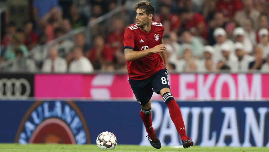MUNICH, GERMANY - AUGUST 05: Javier Martinez of Bayern Muenchen in action during the pre-season friendly match between Bayern Munich and Manchester United at Allianz Arena on August 5, 2018 in Munich, Germany. (Photo by Christian Kaspar-Bartke/Bongarts/Getty Images)