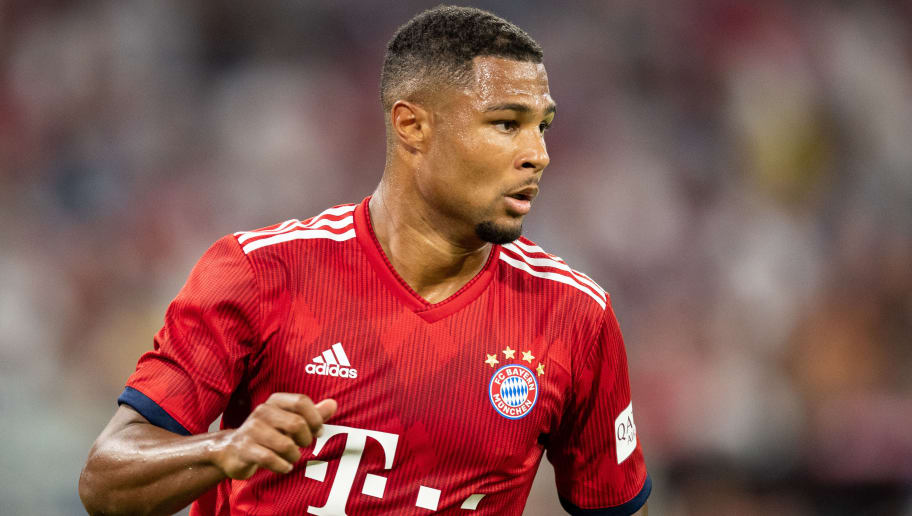 MUNICH, GERMANY - AUGUST 05: Serge Gnabry of FC Bayern Muenchen runs during the friendly match between Bayern Muenchen and Manchester United at Allianz Arena on August 5, 2018 in Munich, Germany. (Photo by Boris Streubel/Getty Images)