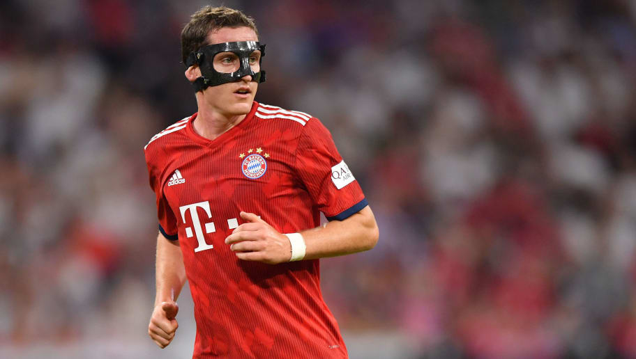 MUNICH, GERMANY - AUGUST 05: Sebastian Rudy of Bayern Muenchen looks on during the friendly match between Bayern Muenchen and Manchester United at Allianz Arena on August 5, 2018 in Munich, Germany. (Photo by Sebastian Widmann/Bongarts/Getty Images)