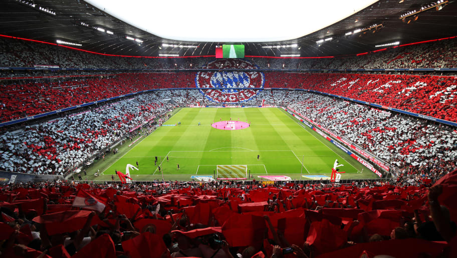 MUNICH, GERMANY - AUGUST 05:  A general view of Allianz arena before the Bayern Muenchen v Manchester United Friendly Match at Allianz Arena on August 5, 2018 in Munich, Germany.  (Photo by Adam Pretty/Bongarts/Getty Images)
