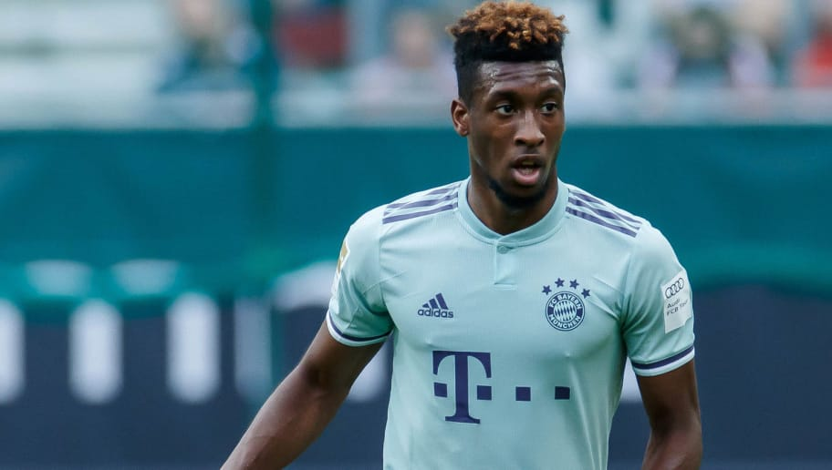 KLAGENFURT, AUSTRIA - JULY 21: Kingsley Coman of Bayern Muenchen controls the ball during the Friendly match between Bayern Muenchen and Paris St. Germain at Woerthersee Stadion on July 21, 2018 in Klagenfurt, Austria. (Photo by TF-Images/Getty Images)