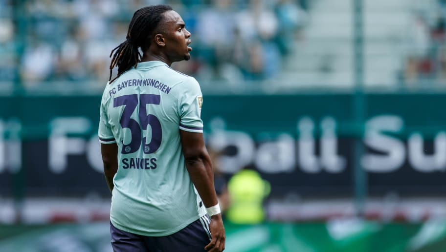 KLAGENFURT, AUSTRIA - JULY 21: Renato Sanches of Bayern Muenchen looks on during the Friendly match between Bayern Muenchen and Paris St. Germain at Woerthersee Stadion on July 21, 2018 in Klagenfurt, Austria. (Photo by TF-Images/Getty Images)