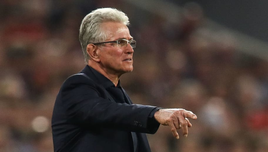 MUNICH, GERMANY - APRIL 25: Head Coach Jupp Heynckes of Bayern Munich reacts during the UEFA Champions League Semi Final First Leg match between Bayern Muenchen and Real Madrid at the Allianz Arena on April 25, 2018 in Munich, Germany. (Photo by Maja Hitij/Bongarts/Getty Images)