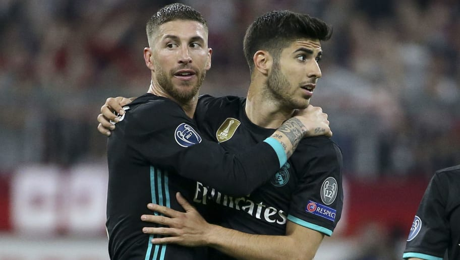 e17af30744b Sergio Ramos Reveals Marco Asensio Will Take Real Madrid's Number 7 Shirt  After Ronaldo's Departure
