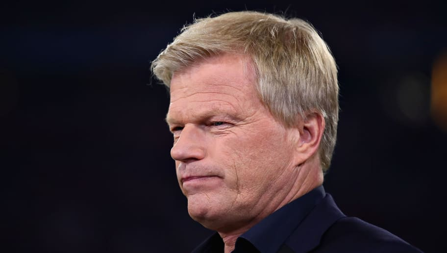 MUNICH, GERMANY - APRIL 25: Former Bayern Muenchen and Germany goalkeeper Oliver Kahn looks on before the UEFA Champions League Semi Final First Leg match between Bayern Muenchen and Real Madrid at the Allianz Arena on April 25, 2018 in Munich, Germany.  (Photo by Chris Brunskill Ltd/Getty Images)
