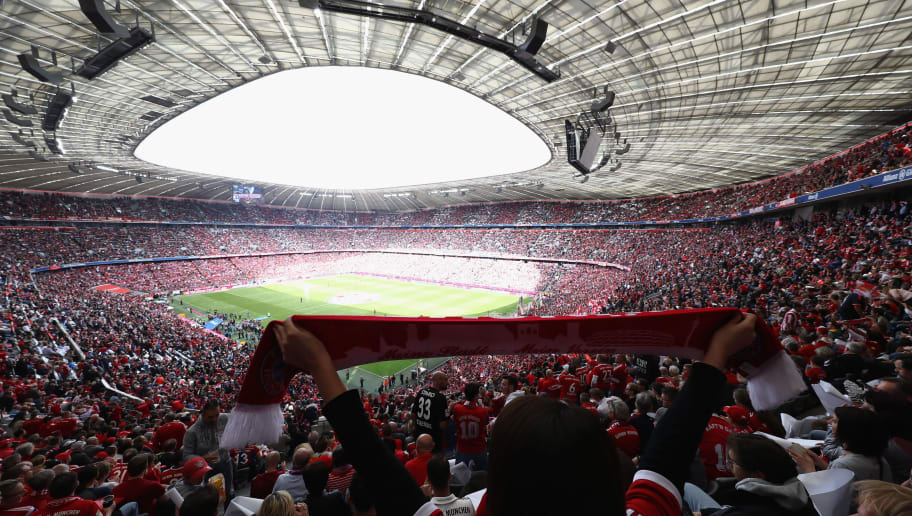 MUNICH, GERMANY - MAY 20:  General view prior to the Bundesliga match between Bayern Muenchen and SC Freiburg at Allianz Arena on May 20, 2017 in Munich, Germany.  (Photo by Alexander Hassenstein/Bongarts/Getty Images)