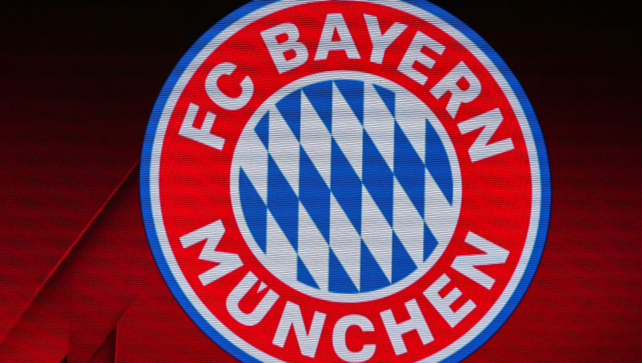 MUNICH, GERMANY - APRIL 11: The logo of FC Bayern is seen on the screen during the UEFA Champions League quarter final second leg match between Bayern Muenchen and Sevilla FC at Allianz Arena on April 11, 2018 in Munich, Germany. (Photo by TF-Images/Getty Images)