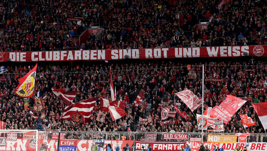 MUNICH, GERMANY - OCTOBER 2: supporters of Bayern Munchen during the UEFA Champions League  match between Bayern Munchen v Ajax at the Allianz Arena on October 2, 2018 in Munich Germany (Photo by Erwin Spek/Soccrates/Getty Images)