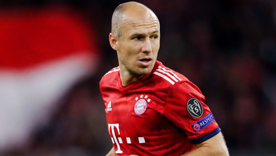 MUNICH, GERMANY - OCTOBER 2: Arjen Robben of Bayern Munchen during the UEFA Champions League  match between Bayern Munchen v Ajax at the Allianz Arena on October 2, 2018 in Munich Germany (Photo by Erwin Spek/Soccrates/Getty Images)