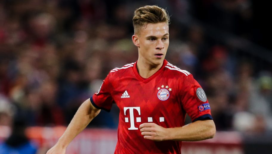 MUNICH, GERMANY - OCTOBER 2: Joshua Kimmich of Bayern Munchen during the UEFA Champions League  match between Bayern Munchen v Ajax at the Allianz Arena on October 2, 2018 in Munich Germany (Photo by Erwin Spek/Soccrates/Getty Images)