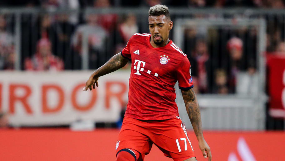 MUNICH, GERMANY - OCTOBER 2: Jerome Boateng of Bayern Munchen during the UEFA Champions League  match between Bayern Munchen v Ajax at the Allianz Arena on October 2, 2018 in Munich Germany (Photo by Erwin Spek/Soccrates/Getty Images)