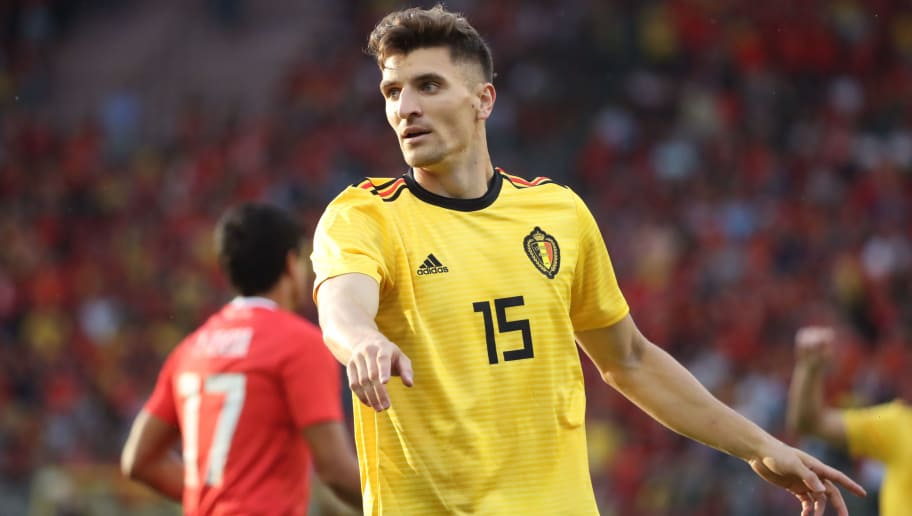 BRUSSELS,BELGIUM - JUNE 11: Thomas MEUNIER pictured during a friendly game between Belgium and Costa Rica, as part of preparations for the 2018 FIFA World Cup in Russia, on June 11, 2018 in Brussels, Belgium. Photo by Vincent Van Doornick - Isosport