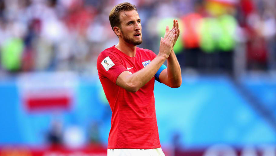 SAINT PETERSBURG, RUSSIA - JULY 14:  Harry Kane of England applauds the crowd after the 2018 FIFA World Cup Russia 3rd Place Playoff match between Belgium and England at Saint Petersburg Stadium on July 14, 2018 in Saint Petersburg, Russia.  (Photo by Chris Brunskill/Fantasista/Getty Images)