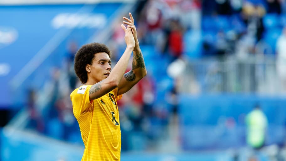 SAINT PETERSBURG, RUSSIA - JULY 14: Axel Witsel of Belgium gestures during the 2018 FIFA World Cup Russia 3rd Place Playoff match between Belgium and England at Saint Petersburg Stadium on July 14, 2018 in Saint Petersburg, Russia. (Photo by TF-Images/Getty Images)