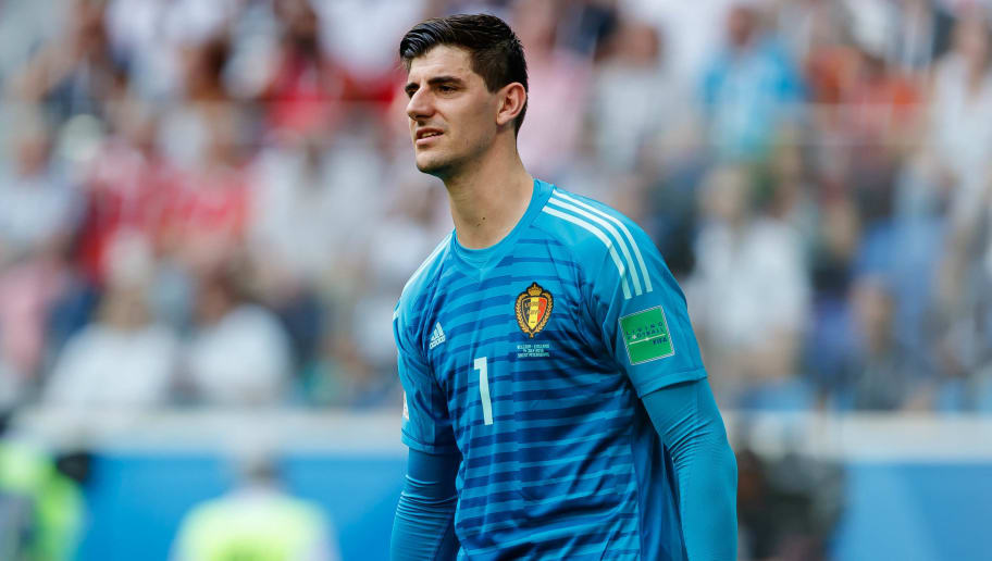 SAINT PETERSBURG, RUSSIA - JULY 14: Goalkeeper Thibaut Courtois of Belgium looks on during the 2018 FIFA World Cup Russia 3rd Place Playoff match between Belgium and England at Saint Petersburg Stadium on July 14, 2018 in Saint Petersburg, Russia. (Photo by TF-Images/Getty Images)