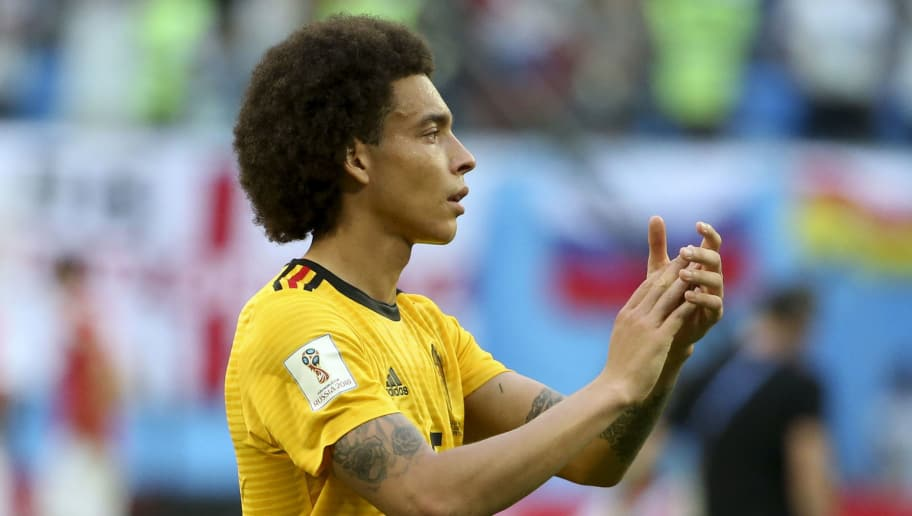 SAINT PETERSBURG, RUSSIA - JULY 14: Axel Witsel of Belgium celebrates the victory following the 2018 FIFA World Cup Russia 3rd Place Playoff match between Belgium and England at Saint Petersburg Stadium on July 14, 2018 in Saint Petersburg, Russia. (Photo by Jean Catuffe/Getty Images)