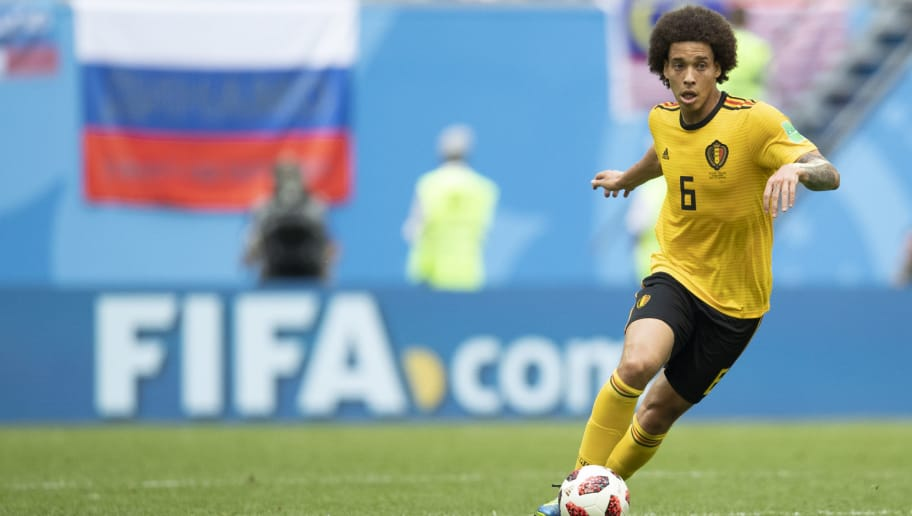 SAINT PETERSBURG, RUSSIA - JULY 14:  Axel Witsel of Belgium in action during the 2018 FIFA World Cup Russia 3rd Place Playoff match between Belgium and England at Saint Petersburg Stadium on July 14, 2018 in Saint Petersburg, Russia.  (Photo by Fred Lee/Getty Images)